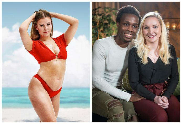 Lesley uit 'Ex On The Beach: Double Dutch' en Laura en Roger uit 'Temptation'.