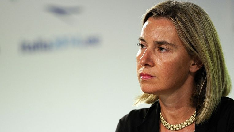 De Italiaanse minister Federica Mogherini van Buitenlandse Zaken. Beeld afp
