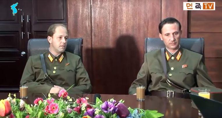 James Jr. (L) en Ted (R) Dresnok. Beeld AFP