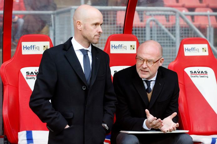Erik Ten Hag met  algemeen directeur Wilco van Schaik.