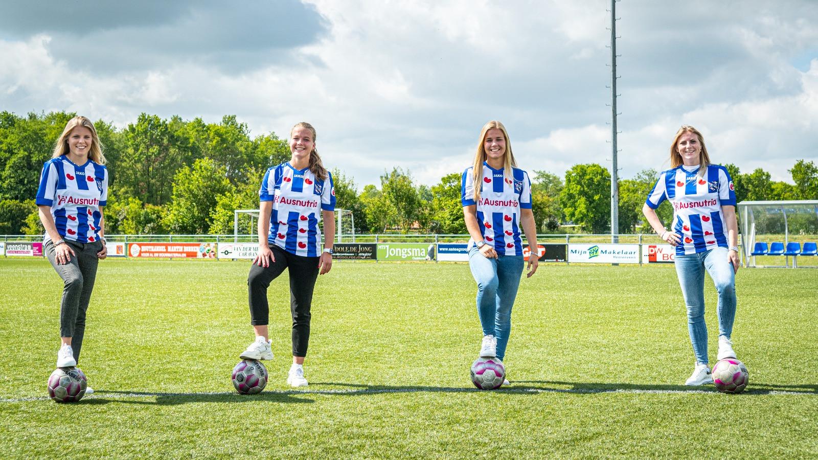 Eef Kerkhof (l) is een van de aanwinsten van SC Heerenveen voor volgend seizoen.