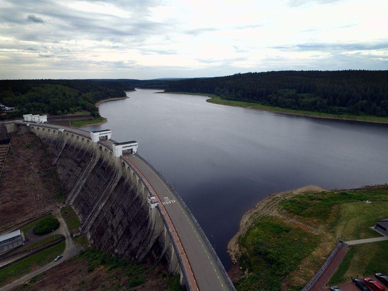 De Vesder-dam in Eupen. Beeld BELGA