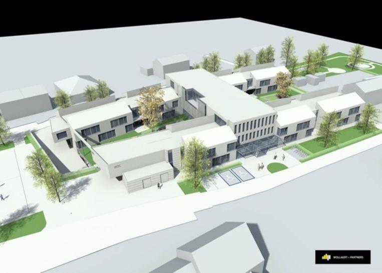 Het toekomstige woon- en zorgcentrum Oralia met vooraan de Beekboshoek.