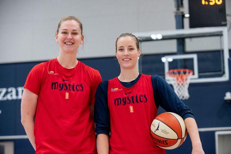 Emma Meesseman en Kim Mestdagh spelen bij de Washington Mystics.