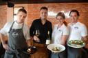 Wouter Braamhaar en zijn crew van Kötter Seafood Oldenzaal