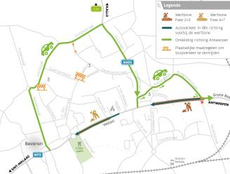 Nieuwe fase van wegenwerken N70: vanaf 7 juni wordt van kant gewisseld en verschuift omleiding naar het noorden van gewestweg