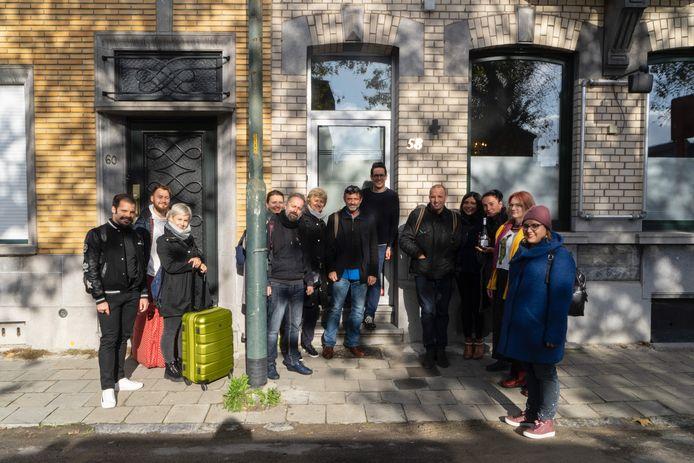 Enkele internationale deelnemers van het vorige project: Big Deal in Vilvoorde, november 2019.