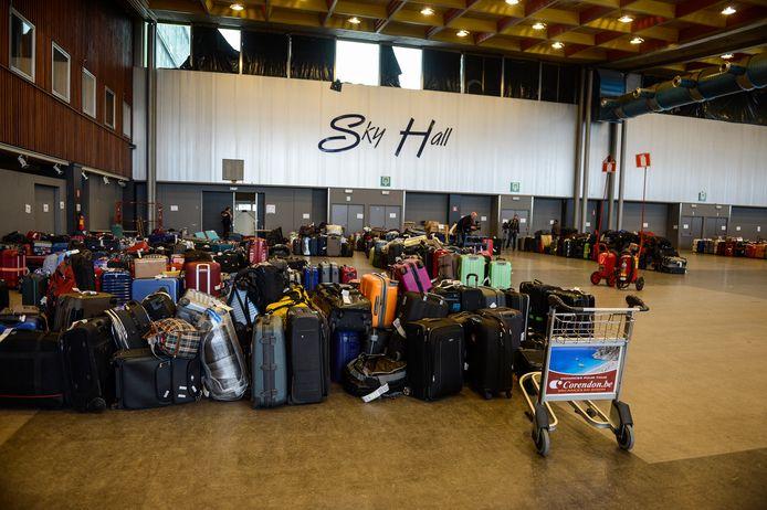 In het verleden werd de Skyhall ook regelmatig gebruikt om achtergebleven bagage na stakingen te stockeren.