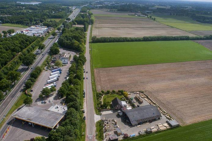 Ten zuiden van de A59 komt bedrijventerrein Heesch-West te liggen.