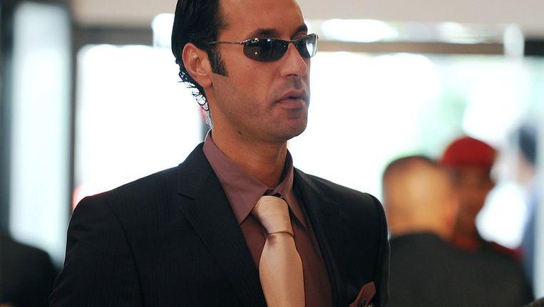 Mutassim Kaddafi in betere tijden. Beeld afp