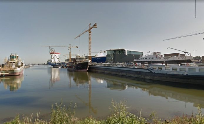 De haven van Werkendam.