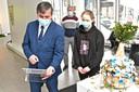MSKA organiseert een kunsttentoonstelling in de Galerie Alfons Blomme. Burgemeester Kris Declercq kwam een kijkje nemen.