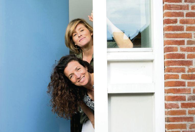Samen door een deur als exen;  Jennet Sintenie en (onder) Sjamke de Voogd Beeld Maartje Geels
