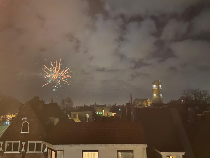 Vuurwerk in Utrecht.