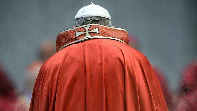 Paus Franciscus, vorige maand op het Sint Pietersplein. Beeld afp