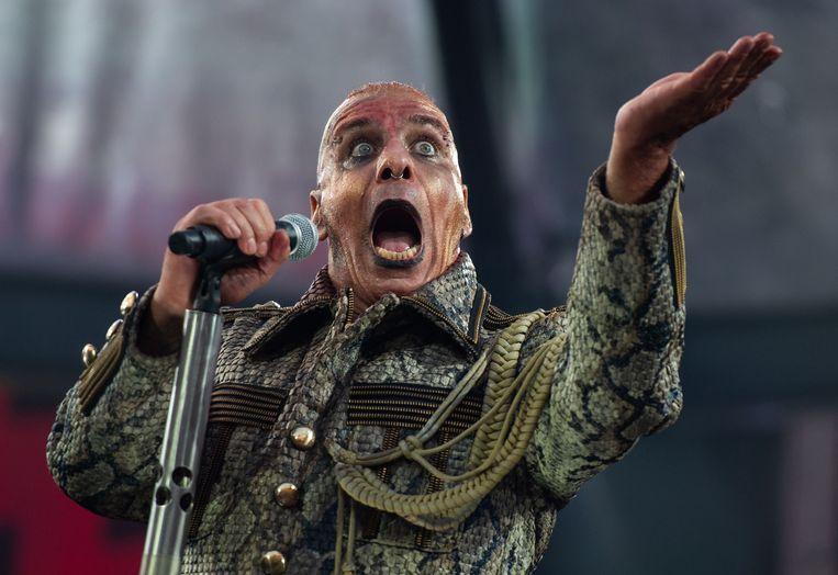 Till Lindemann, frontman van Rammstein. Beeld AFP