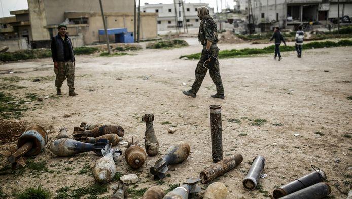 Kobane in Syrië, een stad die tot januari in handen was van IS.