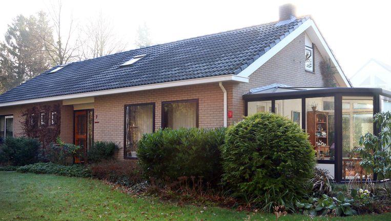 Het huis in het Drentse Exloo van het vermoorde bejaard echtpaar, die vorig jaar juli dood zijn aangetroffen in bed in hun woning. Beeld anp