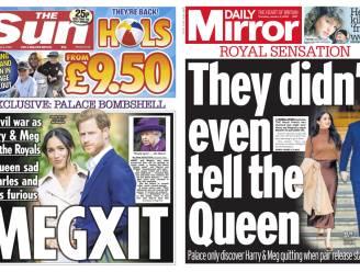 """Britse kranten snoeihard over 'Megxit': """"Het voelt als een mes in de rug"""""""