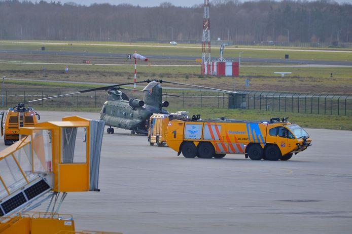 Militair toestel met technische problemen veilig geland op Eindhoven Airport.