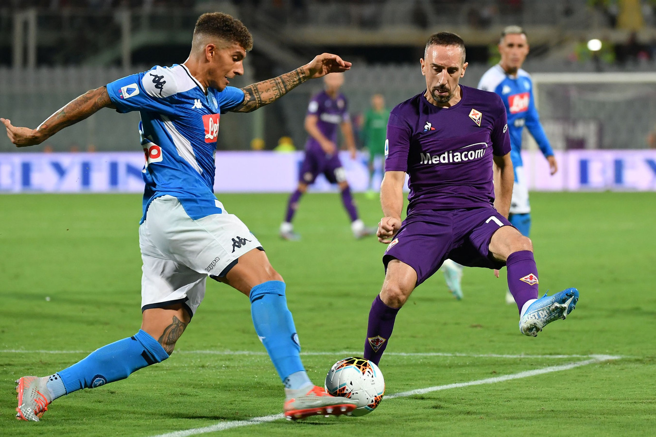 Franck Ribéry in het shirt van Fiorentina.