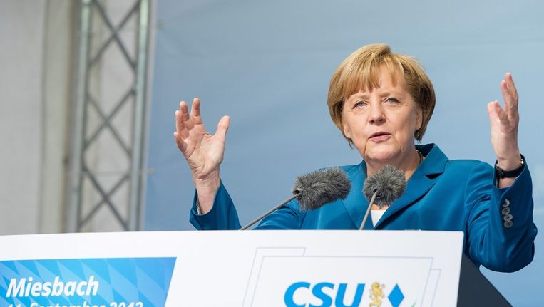 Bondskanselier Angela Merkel van de CSU Beeld ANP