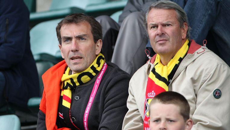 Marc Coudron (l) in de tribune. Beeld PHOTO_NEWS