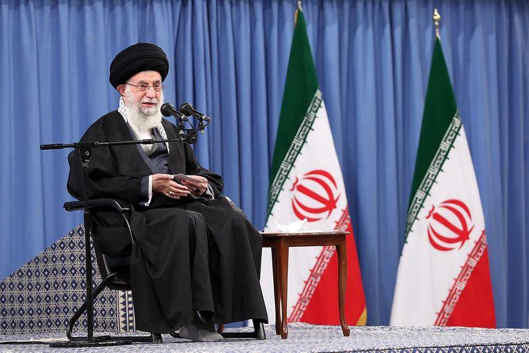 De opperste leider van Iran, ayatollah Ali Khamenei.  Beeld AFP