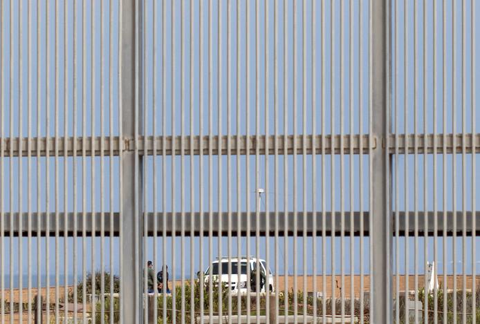 Grensbewaking bij Tijuana, in het noordwesten van Mexico.