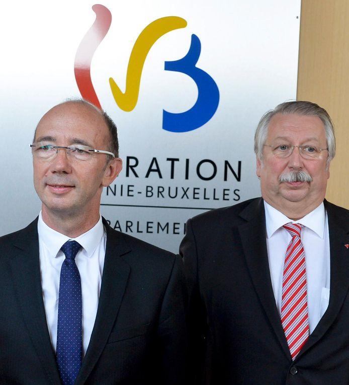 Le président de la FWB Rudy Demotte et son ministre du Budget André Flahaut