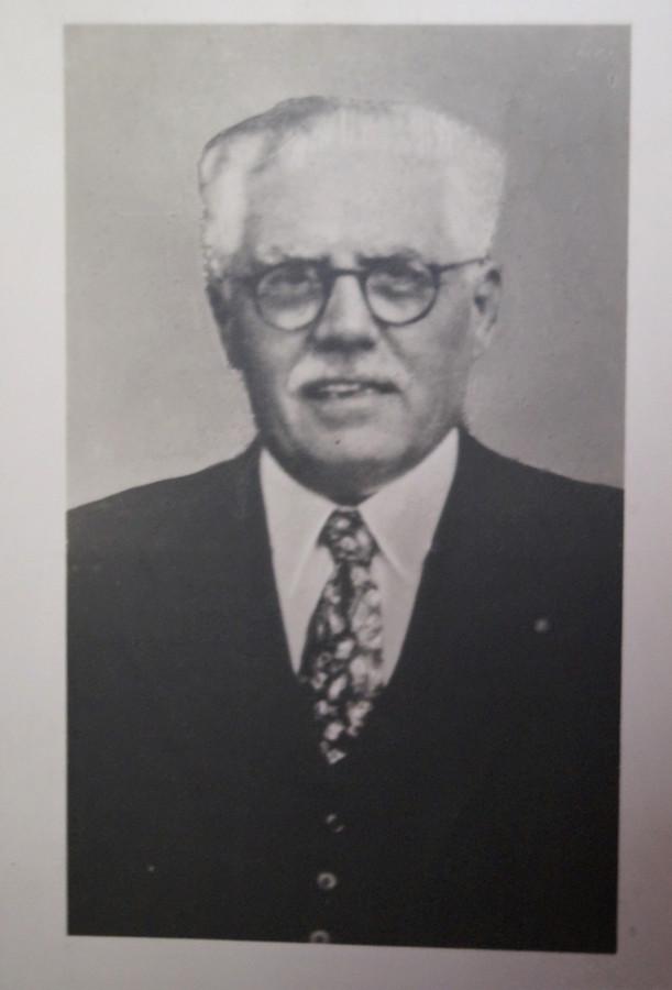 Jules Van Lancker zoals afgebeeld op zijn rouwbrief.