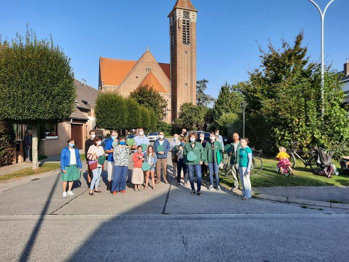 Groen voerde actie in de Bloemenwijk in Assebroek.