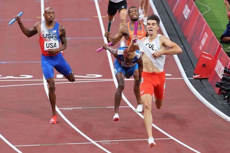 Nederland eindigt nipt als vierde, achter de Verenigde Staten, de Dominicaanse republiek en Polen. Beeld AFP