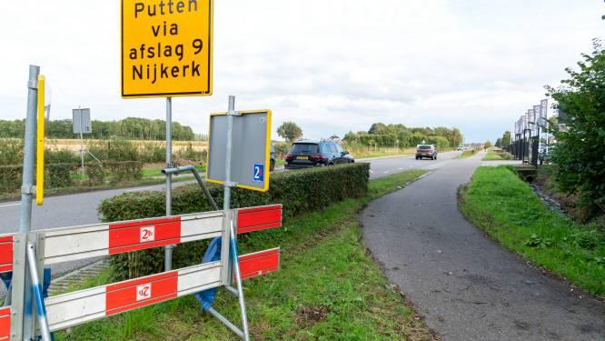Weg naar Putten vanaf A28 alsnog maanden dicht; rechter ziet ook geen alternatief