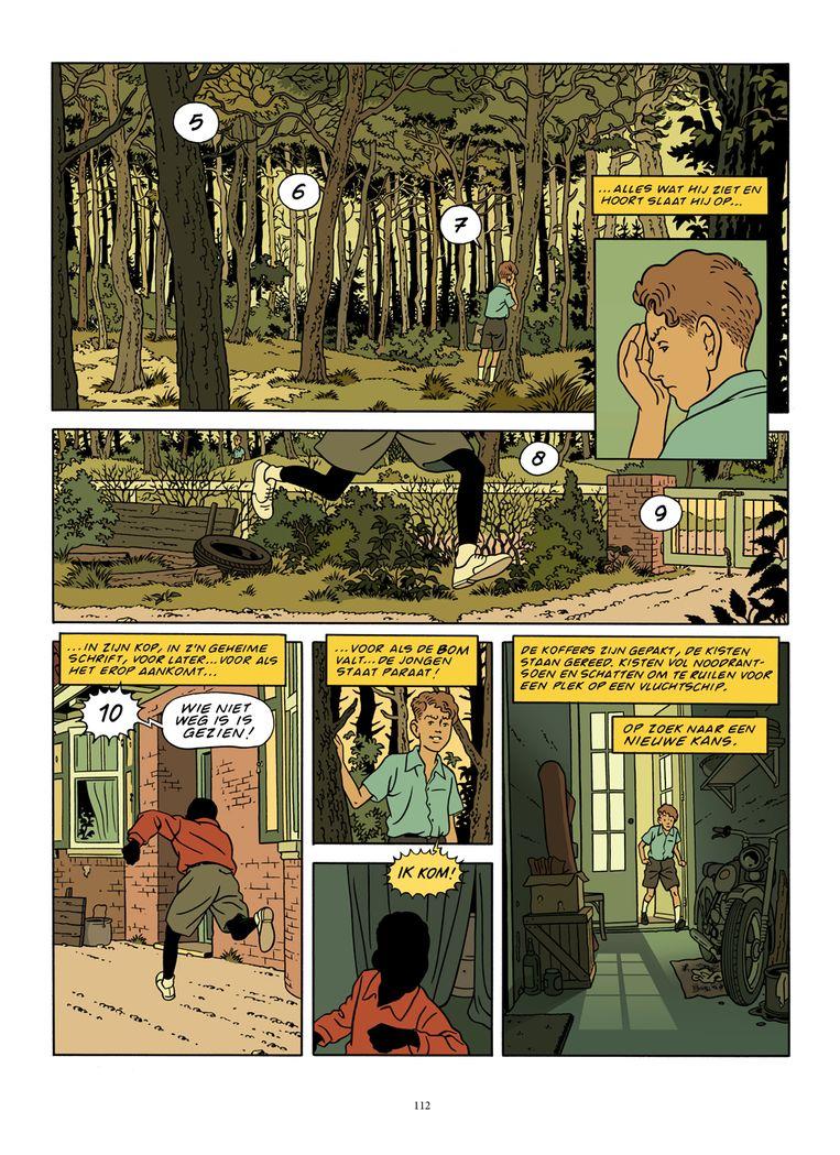 Een bladzijde uit 'Familieziek', getekend door Peter van Dongen. Beeld rv