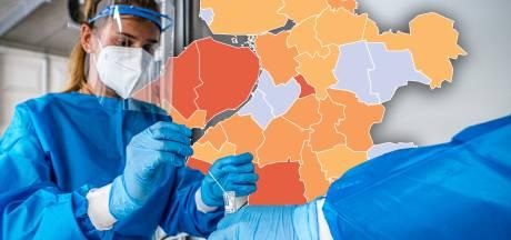 KAART | Grote corona-verschillen in regio: verdubbeling in Flevoland, juist goed nieuws in IJsselland
