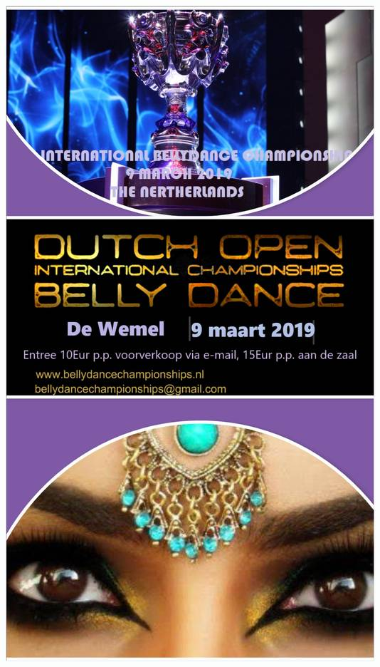 De affiche van het Open Dutch Bellydancing in Wemeldinge