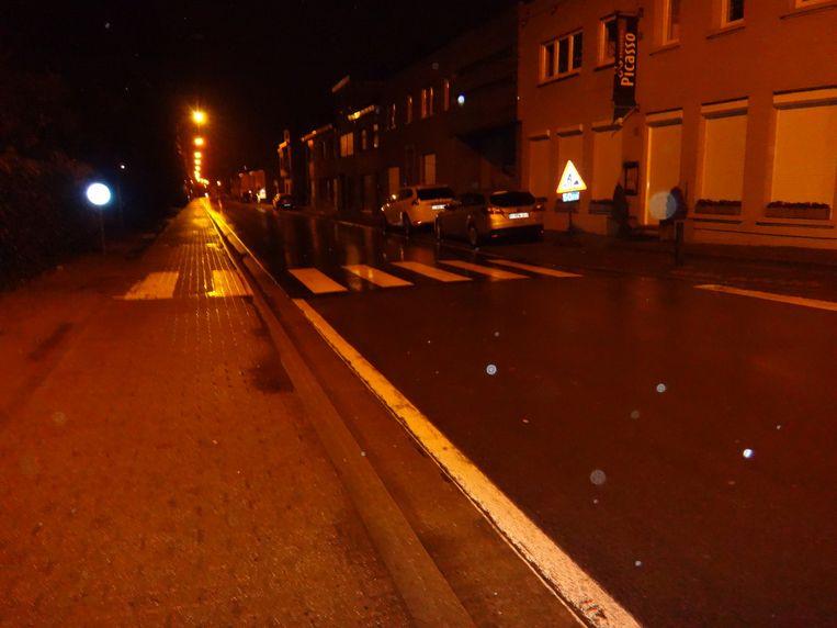 Het zebrapad op de Fraterstraat, vlak bij de Bergstraat, waar de meisjes aangereden werden.