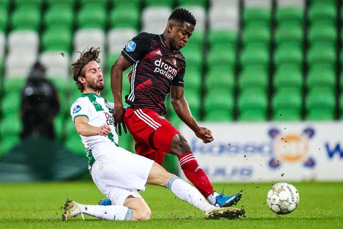 Luis Sinisterra maakte een sterke indruk tegen Groningen, maar scoorde niet.
