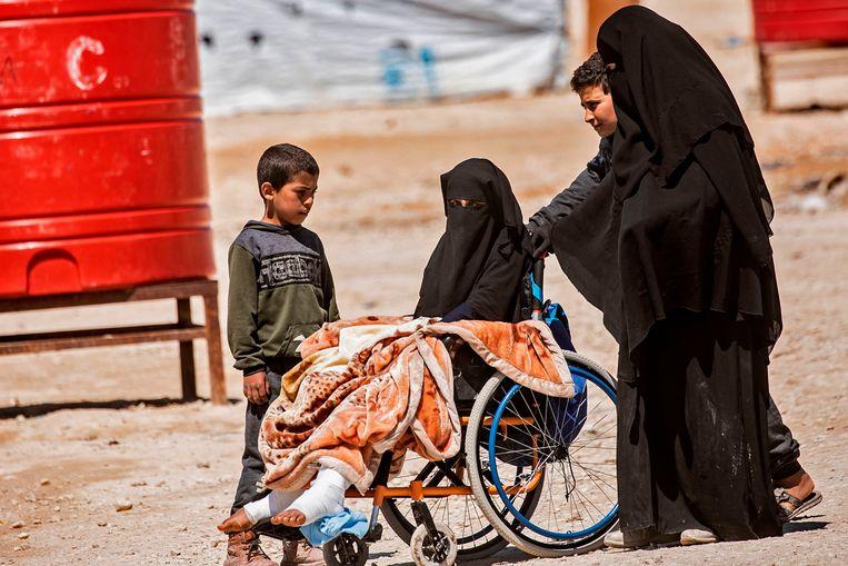 In het kamp van Al Hol verblijven meer dan 70.000 mensen.  Beeld AFP