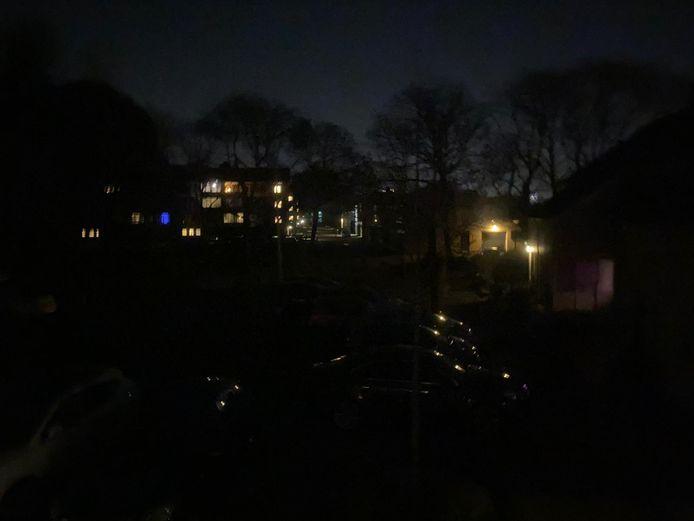Stroomstoring in de wijk Het Ven in Eindhoven.
