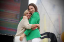 Nina Derwael met haar trotste mama.