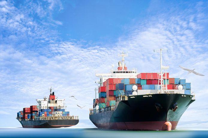Cargoschepen. Foto ter illustratie.