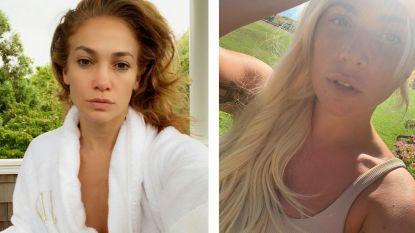 Van J.Lo tot Lady Gaga: vrouwelijke sterren posten massaal foto's zonder make-up