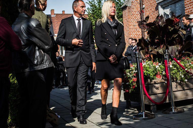 Marc Sergeant, ploegleider van Lotto-Soudal en zijn vrouw Beeld Bas Bogaerts
