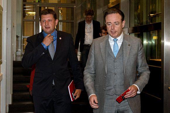 John Crombez en Bart De Wever (archieffoto).