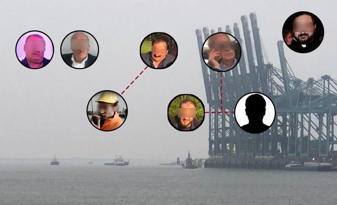 De Antwerpse maffiafamilie Y. met bovenaan de vier clanhoofden Sahin Y. (52), Muhsin Y. (48), Dikran Y. (62) en Can Y. (71). Dikrans zoon Marsin Y. (30), onderaan links, werkte als planner bij DP World in de haven. Van Cans zoon en kopstuk Bayram Y. (38, rechts onderaan) is geen beeld, wel van zijn broer Corc Y. (midden). Ook de priester van de gemeenschap, Ardhil S., was op de hoogte van de zaken van de familie.