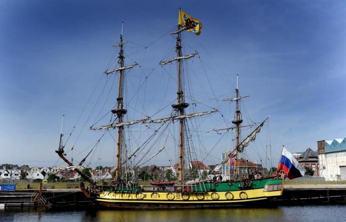 De Shtandart tijdens Sail. archieffoto Lex de Meester
