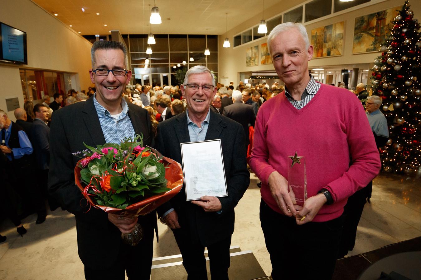 Ludo Hoendervangers, Peter Nuijten en Erik de Laet (vlnr) van de Putse zorgcoöperatie Zorg Om Zorg.
