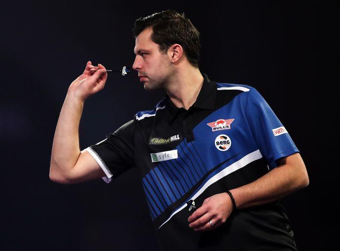 Opperste concentratie bij Maik Kuivenhoven tijdens zijn eerste ronde op het WK in Londen afgelopen december.